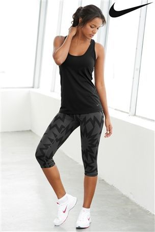 Nike Black Saha Tank and Leggings