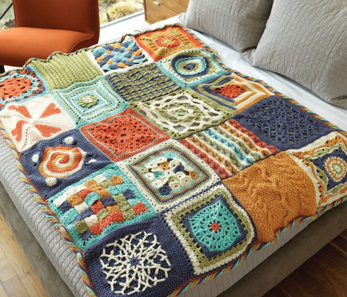 Crochet afghans are one of the best parts of crochet. Jazz up your designs with 20 afghan squares to mix and match for truly one-of-a-kind crochet blankets.