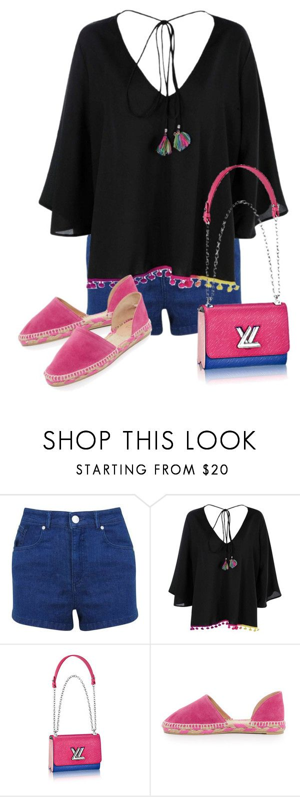 """""""Untitled #712"""" by indirareeves on Polyvore featuring Miss Selfridge, Boohoo and Castañer"""