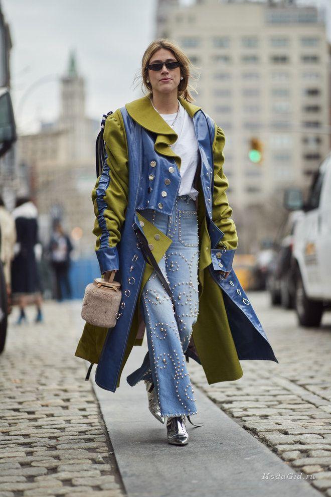 Уличная мода  Стритстайл на неделе моды в Нью-Йорке сезона осень-зима 2018 7a5caf32530