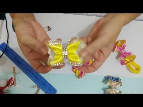 Laço boutique Xique-Xique 8 pontas decorando com manta de strass - YouTube
