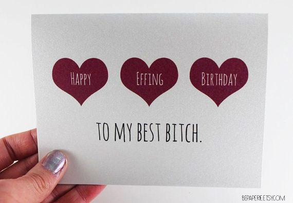Scheda di compleanno amico miglior amico compleanno / di BEpaperie