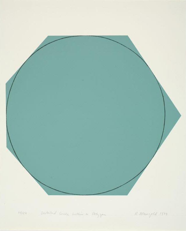Robert Mangold - Distorted Circle within a Polygon, 1973