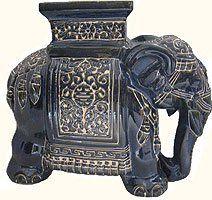 Amazon.com 18 h Ceramic Elephant Stool Home u0026 Kitchen (blue  sc 1 st  Pinterest & 175 best Elephant Garden Stools images on Pinterest | Garden ... islam-shia.org