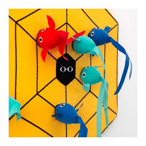 LATTJO Dart game IKEA Trying to hit targets helps develop the child's ability to estimate distances and coordinate movements.
