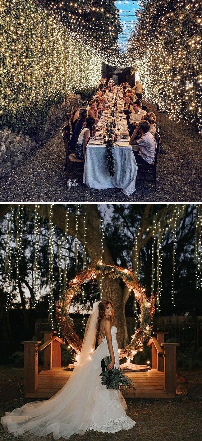 35 Stunning Wedding Lighting Ideas You Must See Elegantweddinginvites Com Blog In 2020 Wedding Lights Wedding Wedding Decorations