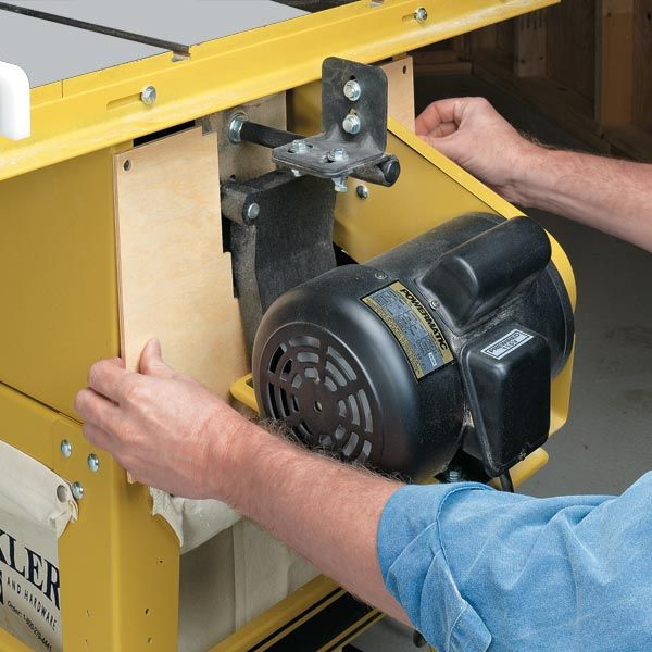 Dustproof Your Table Saw. Looks like this could work on a portable saw too.