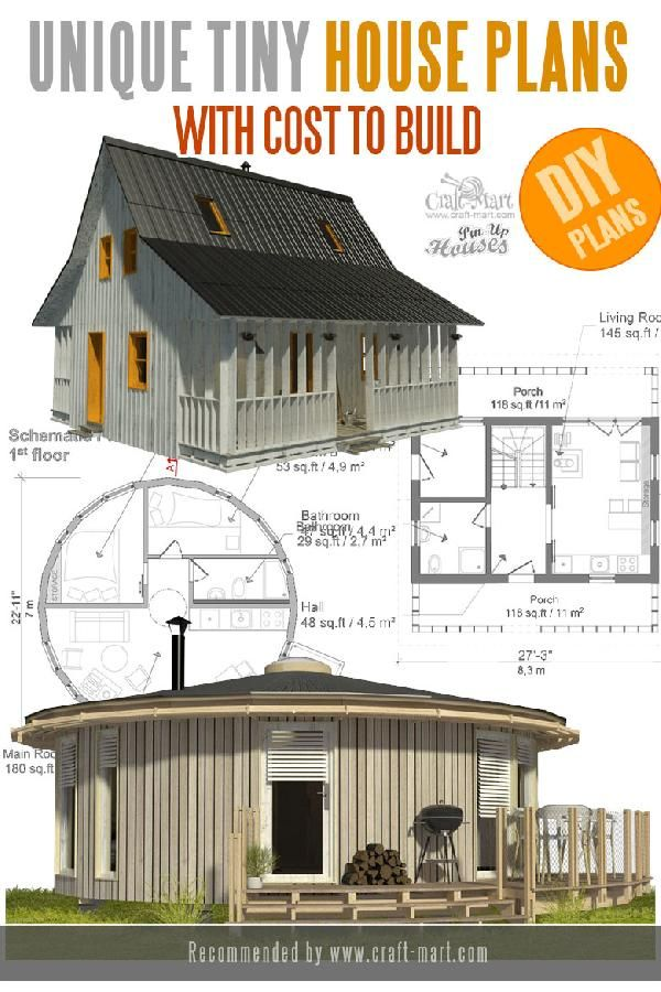 Unique Small House Plans Tiny Homes Cabins Sheds Craft Mart In 2021 Tiny House Plans Small House Plans House Plans