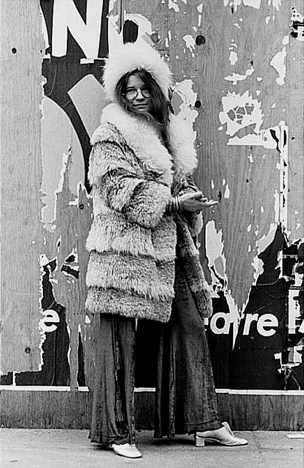 Janis in New York City, March 3, 1969  Photo by David Gahr