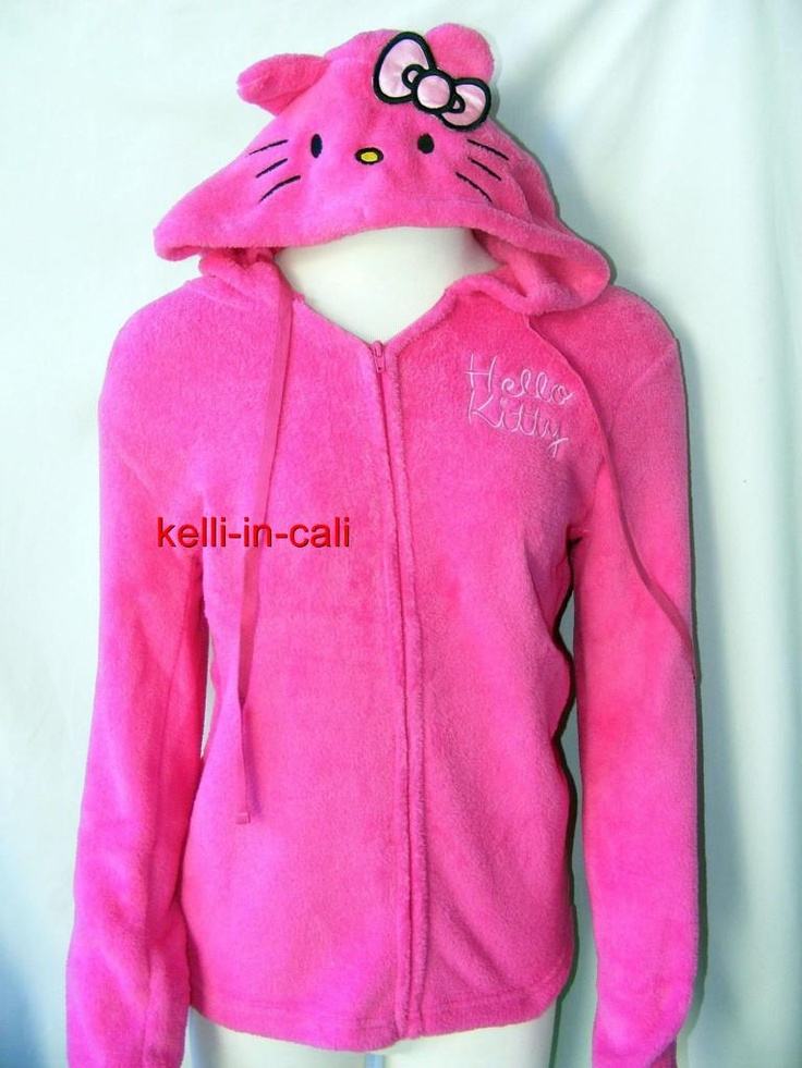 Hello kitty hoodie with ears and bow