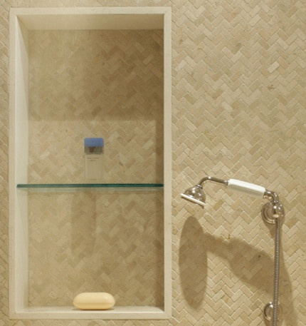 small herringbone tile in shower bathroom pinterest