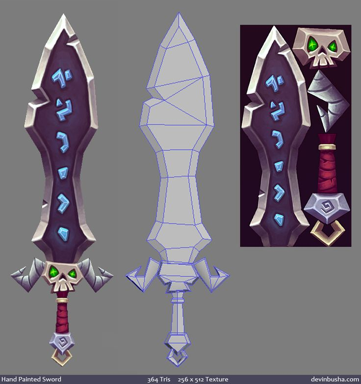 Hand Painted Sword by ~Devin-Busha on deviantART