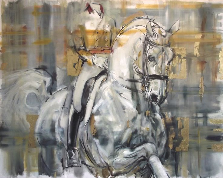 Rosemary Parcell 'Equestrian' horse painting, Acrylic on canvas, 1200 x 1520 mm, POA at the Remuera Gallery