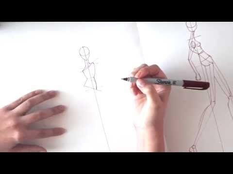 Cómo dibujar poses de figurines de moda - YouTube