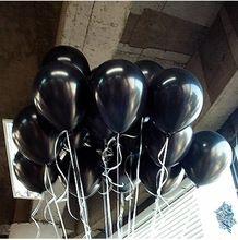 10 pz/lotto 10 Inch2.2g nero elio palloncini decorazione festa nuziale di compleanno ballons giocattolo del bambino perla nera  (China (Mainland))