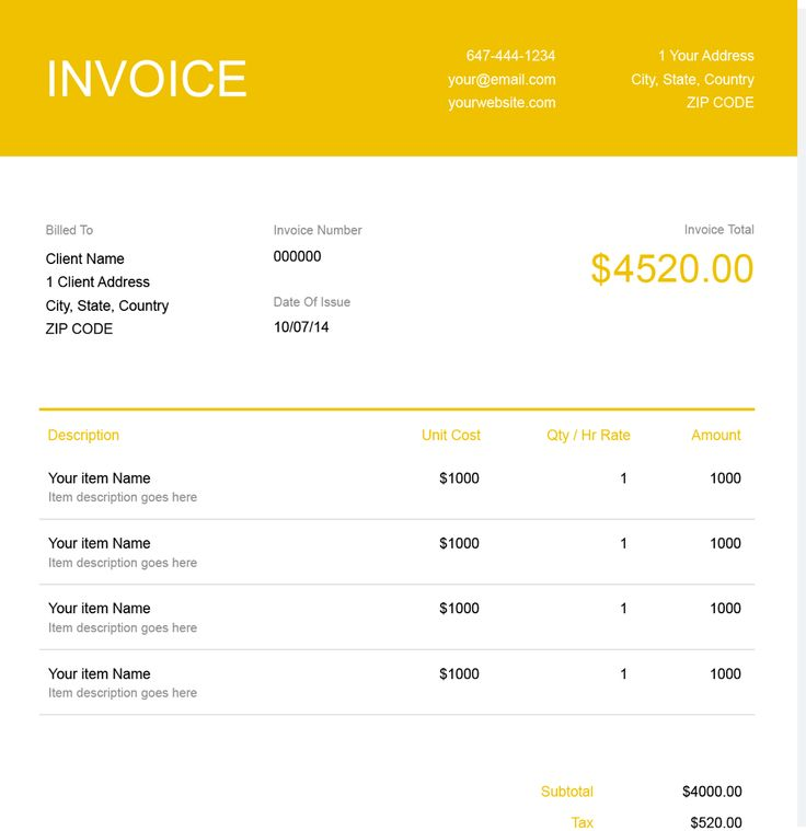 Download a Construction Invoice Template