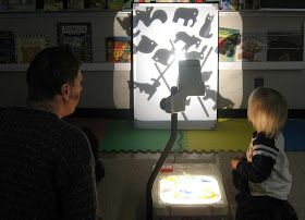 Groundhog Day happens this week and offers a perfect opportunity to experiment with shadow and light. Out came the overhead projector.  We u...