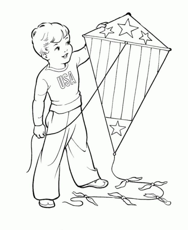 29 Best Kite Coloring Pages Images On Pinterest