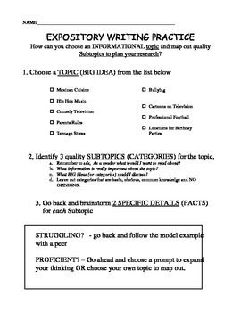 topic and three subtopics for your expository essay Five-paragraph essay outline title i introduction a introduction sentence b restate your topic c three subtopics to use to develop paragraphs 2, 3, and 4.