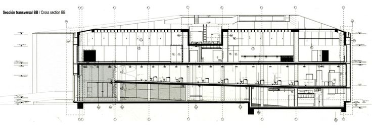 Herzog & De Meuron - Laban Dance Centre - Sezione Trasversale.