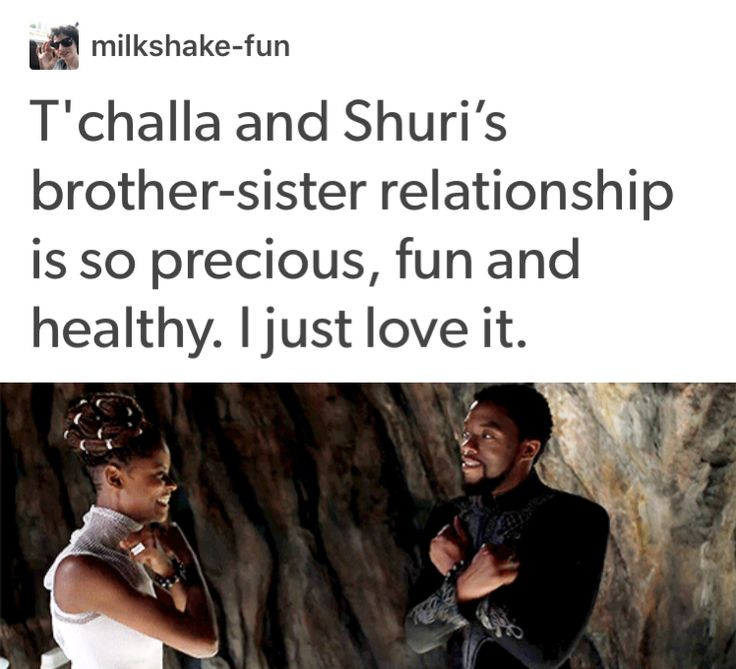 T'challa and Shuri black panther