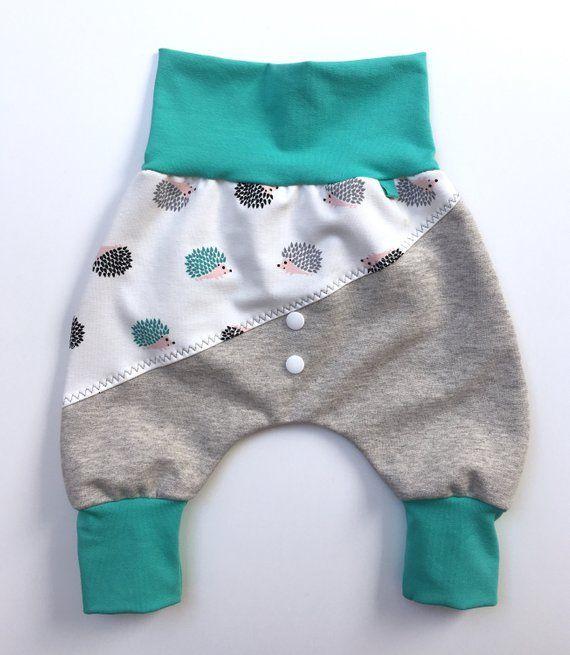 Baby trousers, Pumphose, trousers, Sweathose, hedgehogs