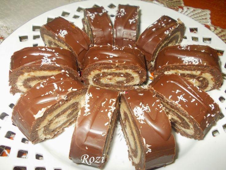 Rozi Erdélyi konyhája: Gesztenyés keksztekercs