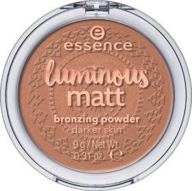 Bronzer Luminous Matt Bronzing Powder Sunglow 02, 9 g   – augen make up dezent