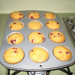 delicious orange supreme cake mix with cranberries. I adapted this from Duncan Hines CakeMix Magic cookbook. Originally, it was lemon blueberry, but you work with what you have!