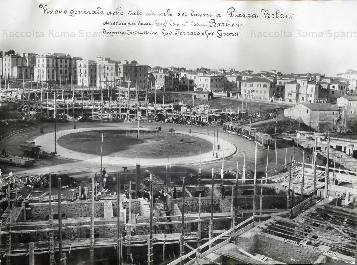 Foto storiche di Roma - Piazza Verbano