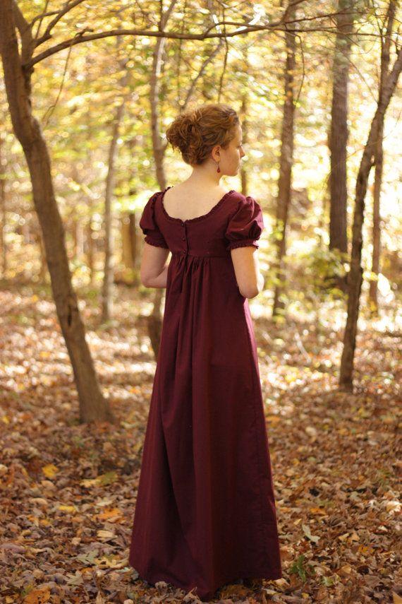 Regency Dress, https://www.etsy.com/listing/210543289/regency-dress-reenactment-costume-and?ref=listing-shop-header-3