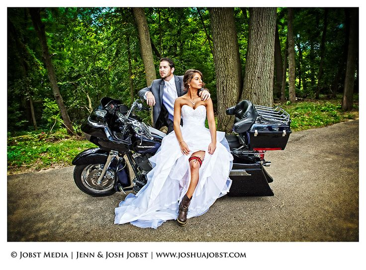 biker wedding pictures | Harley Davidson Motorcycle Wedding Photography Michigan 01