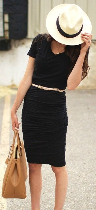 black dress LOvE minus hat... Always be classic and current but...never be a fashion victim