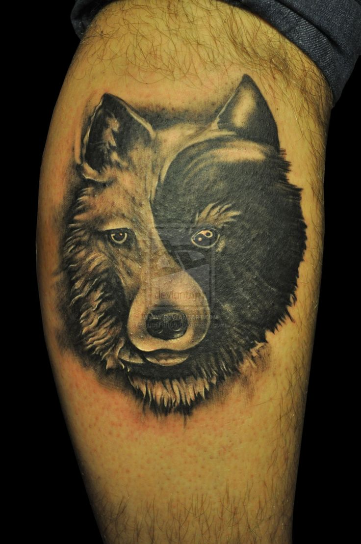 80 best tatouage loup images on pinterest tattoo wolf wolves and tattoo designs - Tatouage ying yang ...