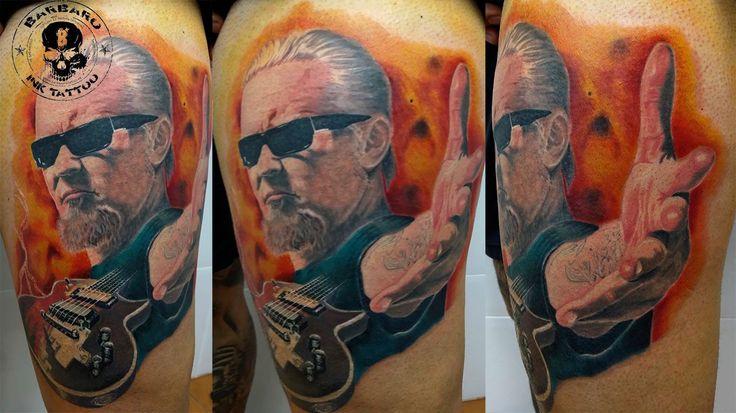 #tattoo #tattooist #tattooed #bestspaintattooartist #colortattoo #metallica #metallicatattoo #jameshetfield #jameshetfieldtattoo