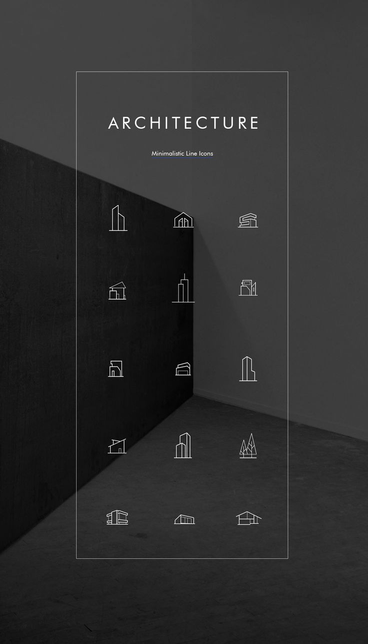 Minimal Architecture Line Icon Pack - FREE PSD More PSD: 72pxdesigns