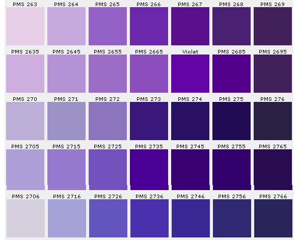 Color Chart Purple Pinterest Charts Hue And Purple Colors