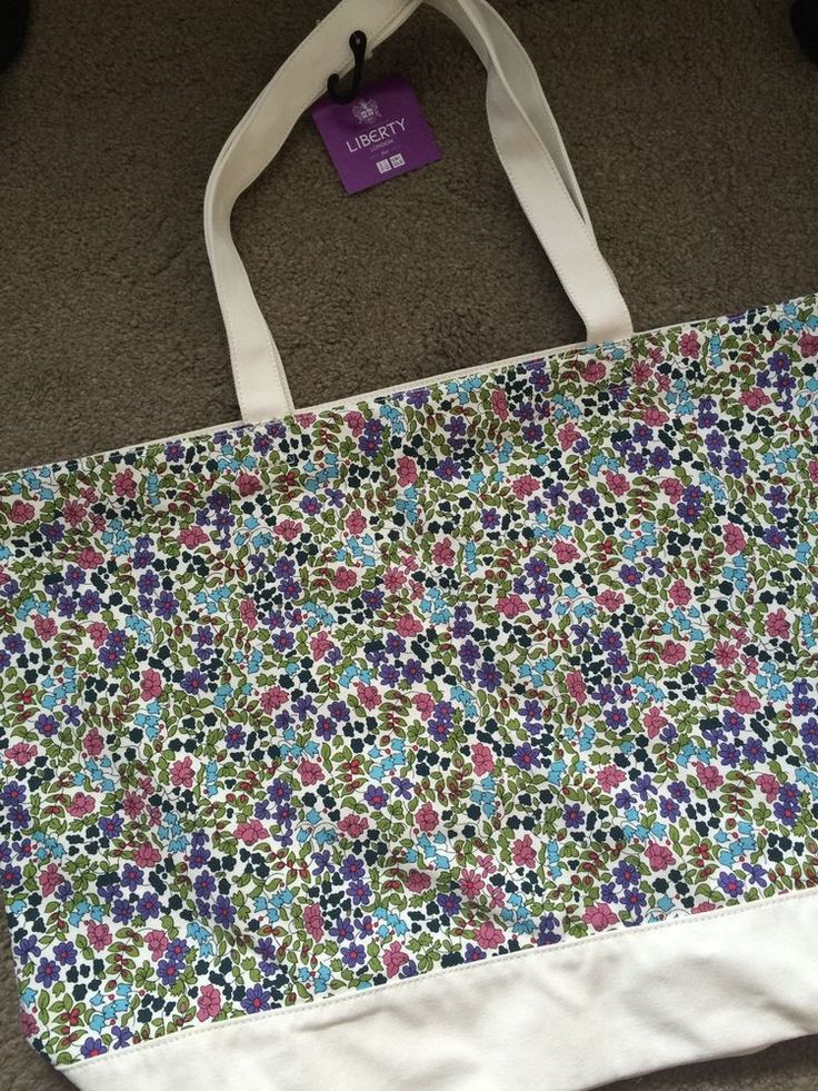LIBERTY of London Uniqlo Tote Bag NEW with Tags Floral Cream