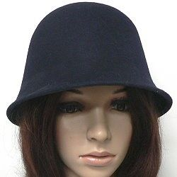 Wool felt cloches—the women's fashion hat that is never out of style for long.  This navy cloche has the classic shape that harkens back to the roaring twenties.  Browse more wholesale winter fashion hats by clicking on the link.  http://www.awnol.com/store/Hats/Winter-Hats