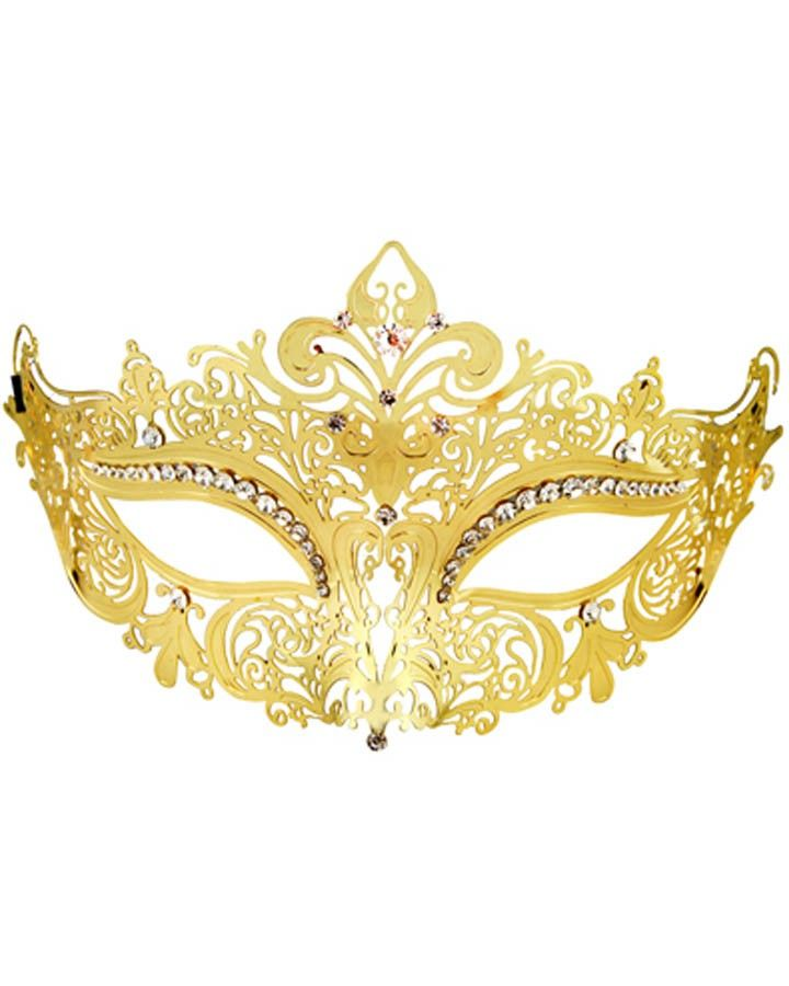 Gold and Silver Masquerade Metal Mask