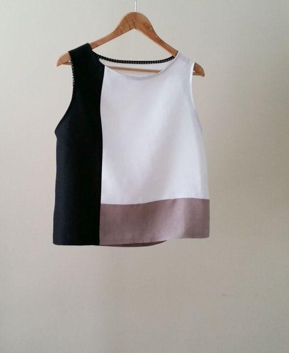 White Linen Tunic Blouse 61
