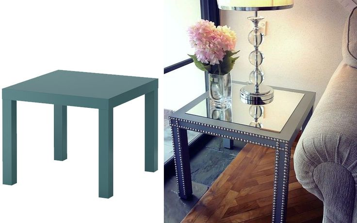 "IKEA hack no 5~ Decorating and Dreaming.  Found on Sköna Hem blogg.  Table ""Lack"""