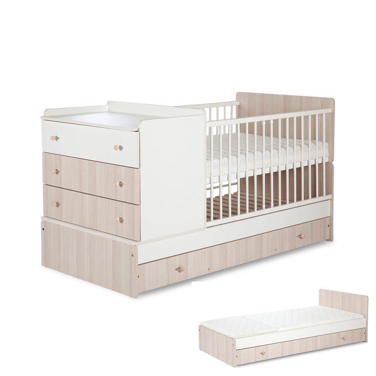 Genialne rozwiązanie - Łóżeczko + komoda + łóżko dla dużego dziecka w1 KOMPAKT. Cena - 769 zł