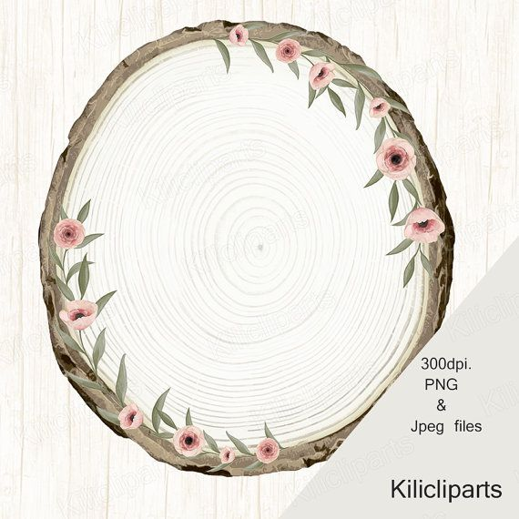 Watercolor flowers,  wood  Wreaths, Wedding clipart, bohemian Wreaths, Floral Wreaths, clipart, instant download.