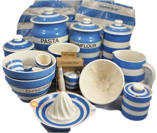 A collection of TG Green Cornish Blue Ware to include Pasta Cornflour Storage Jars  sc 1 st  Pinterest & 121 best T. G. Green Cornish Ware images on Pinterest | Cornishware ...