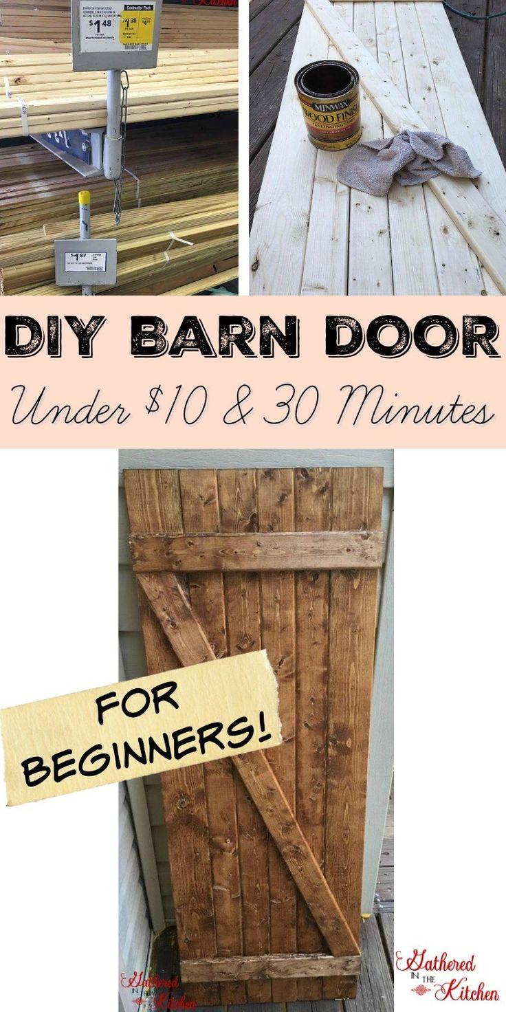 Diy barn door under 10 in 30 minutes tiny home plans for Farm door ideas