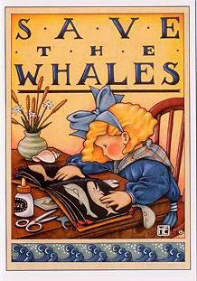 """""""SAVE THE WHALES"""" ~~ Love Artwork & Message by ©Mary Engelbreit"""
