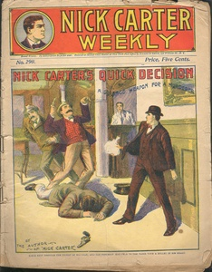 NICK CARTER WEEKLY  DETECTIVE DIME NOVEL