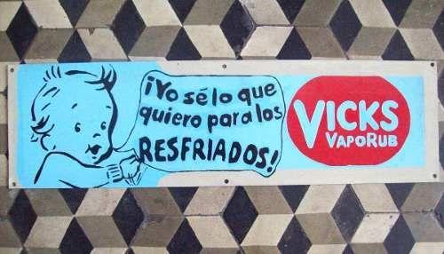 Anuncio De Vicks Vaporub. Vintage En Placa De Acero.