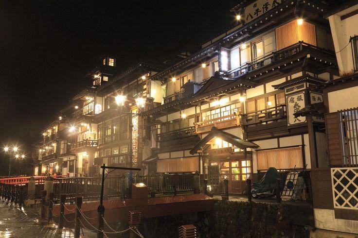 Ginzan Onsen Hot Springs in Japan